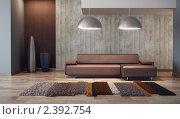 Купить «Интерьер гостиной, 3D», иллюстрация № 2392754 (c) Дмитрий Кутлаев / Фотобанк Лори