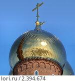 Купол православного храма на фоне неба. Стоковое фото, фотограф Анфимов Леонид / Фотобанк Лори