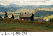Хижина в горах. Стоковое фото, фотограф Евгений Волкотруб / Фотобанк Лори