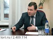 Министр торговли, питания и услуг Свердловской области Дмитрий Ноженко (2010 год). Редакционное фото, фотограф Владислав Бурнашев / Фотобанк Лори