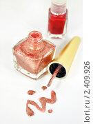 Купить «Красный и коричневый лак для ногтей», фото № 2409926, снято 15 марта 2011 г. (c) Володина Ольга / Фотобанк Лори
