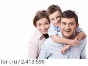 Купить «Портрет счастливой семьи», фото № 2413590, снято 29 января 2011 г. (c) Raev Denis / Фотобанк Лори