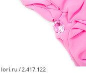 Купить «Розовая драпировка с алмазом», фото № 2417122, снято 19 марта 2011 г. (c) Типляшина Евгения / Фотобанк Лори