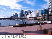 Купить «Вид на центральный деловой район Сиднея», фото № 2418026, снято 18 августа 2010 г. (c) Elena Monakhova / Фотобанк Лори