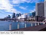 Купить «Вид на центральный деловой район Сиднея», фото № 2418030, снято 18 августа 2010 г. (c) Elena Monakhova / Фотобанк Лори