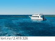 Яхта в  красном море, Египет, заповедник Рас-Мухамед (2008 год). Стоковое фото, фотограф ElenArt / Фотобанк Лори
