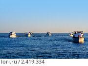 Купить «Туристические яхты возвращаются в Шарм-эш-Шейх, Египет», фото № 2419334, снято 30 октября 2008 г. (c) ElenArt / Фотобанк Лори
