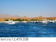 Туристические яхты в Шарм-эш-Шейхе, Египет (2008 год). Стоковое фото, фотограф ElenArt / Фотобанк Лори