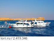 Купить «Туристические яхты в заповеднике Рас-Мухамед, Египет», фото № 2419346, снято 30 октября 2008 г. (c) ElenArt / Фотобанк Лори