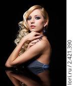 Купить «Портрет красивой блондинки», фото № 2421390, снято 4 марта 2011 г. (c) Serg Zastavkin / Фотобанк Лори