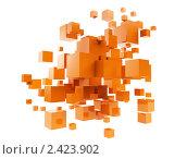 Купить «Оранжевые кубики в абстрактной композиции», иллюстрация № 2423902 (c) Юдин Владимир / Фотобанк Лори