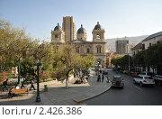 Купить «Площадь в Ла - Пасе», фото № 2426386, снято 11 сентября 2010 г. (c) Free Wind / Фотобанк Лори