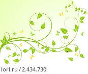 Купить «Зеленые ветви с листьями», иллюстрация № 2434730 (c) Костенюкова Наталия / Фотобанк Лори