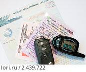 Купить «Ключи и документы от машины», эксклюзивное фото № 2439722, снято 31 марта 2011 г. (c) Игорь Низов / Фотобанк Лори