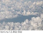 Купить «Облака из иллюминатора самолета», фото № 2442542, снято 31 июля 2010 г. (c) Elena Monakhova / Фотобанк Лори