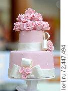Купить «Торт Свадебный», фото № 2447494, снято 1 апреля 2011 г. (c) Галаганов Дмитрий Александрович / Фотобанк Лори