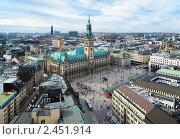 Вид на Гамбург и гамбургскую ратушу, Германия (2011 год). Стоковое фото, фотограф Михаил Марковский / Фотобанк Лори