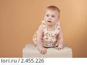 Купить «Студийный портрет восьмимесячной девочки», фото № 2455226, снято 19 ноября 2010 г. (c) Екатерина Упит / Фотобанк Лори