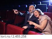 Комедия. Молодая пара в кинотеатре. Стоковое фото, фотограф Константин Сутягин / Фотобанк Лори