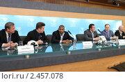 Купить «Рой Джонс (младший) и Денис Лебедев пресс-конференция на ВГТРК», эксклюзивное фото № 2457078, снято 7 апреля 2011 г. (c) Дмитрий Неумоин / Фотобанк Лори