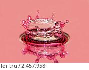 Купить «Всплеск воды», фото № 2457958, снято 12 февраля 2010 г. (c) Ласточкин Евгений / Фотобанк Лори