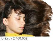 Портрет девушки с красивыми здоровыми волосами. Стоковое фото, фотограф Наталья Иванова / Фотобанк Лори
