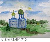 Старая церковь. Стоковая иллюстрация, иллюстратор Заварзин Олег / Фотобанк Лори