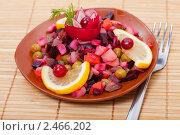 Купить «Русский традиционный салат винегрет», фото № 2466202, снято 6 апреля 2011 г. (c) ElenArt / Фотобанк Лори