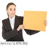 Купить «Деловая женщина с бумагой», фото № 2470362, снято 6 декабря 2009 г. (c) Алексей Сергеев / Фотобанк Лори