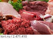 Купить «Свежее мясо», фото № 2471410, снято 17 июля 2018 г. (c) Marina Appel / Фотобанк Лори