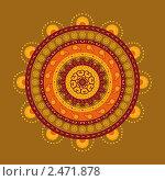Купить «Индийский орнамент», иллюстрация № 2471878 (c) Инна Грязнова / Фотобанк Лори