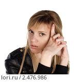 Портрет девушки в кожаной куртке. Стоковое фото, фотограф Черников Роман / Фотобанк Лори