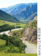 Горная долина. Стоковое фото, фотограф Рыбин Евгений Евгеньевич / Фотобанк Лори