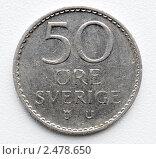 Купить «Монета 50 эре Швеция 1973 год аверс», фото № 2478650, снято 17 апреля 2011 г. (c) Shamigulov P.V. / Фотобанк Лори