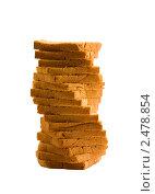 Хлеб-нарезка на белом фоне. Стоковое фото, фотограф Мамышева Наталья Васильевна / Фотобанк Лори