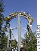Купить «Американские горки», фото № 2483378, снято 6 августа 2009 г. (c) Андрей Ерофеев / Фотобанк Лори