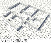 Купить «Абстрактная архитектура, 3D», иллюстрация № 2483570 (c) Сахно Роман Викторович / Фотобанк Лори