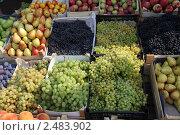 Фруктовый прилавок на рынке. Стоковое фото, фотограф Николай Корсунь / Фотобанк Лори
