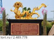 Купить «Стенд золотого дракона», фото № 2489778, снято 10 апреля 2011 г. (c) Alexey ionin / Фотобанк Лори