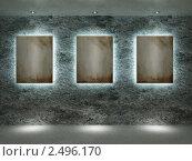 Интерьер с картинами. Стоковая иллюстрация, иллюстратор Дмитрий Солодянкин / Фотобанк Лори