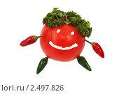 Улыбающийся томат. Стоковое фото, фотограф Виктория Кононова / Фотобанк Лори
