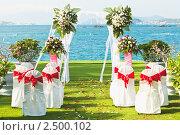 Купить «Свадьба на берегу океана», фото № 2500102, снято 23 апреля 2011 г. (c) Ольга Хорошунова / Фотобанк Лори