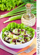 Купить «Салат с картошкой, фасолью и луком», эксклюзивное фото № 2504138, снято 26 апреля 2011 г. (c) Давид Мзареулян / Фотобанк Лори