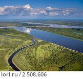 Купить «Река Обь  в среднем течении», фото № 2508606, снято 29 августа 2009 г. (c) Владимир Мельников / Фотобанк Лори