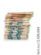 Купить «Пачки российских рублей», эксклюзивное фото № 2508694, снято 24 апреля 2011 г. (c) Татьяна Белова / Фотобанк Лори