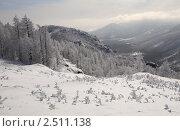 """Купить «""""Заснеженный перевал""""( горное ущелье, Абзаково, Башкирия)», фото № 2511138, снято 19 марта 2011 г. (c) BoLinar / Фотобанк Лори"""