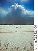 Купить «Снеговая туча», фото № 2512406, снято 2 апреля 2011 г. (c) Виктор Застольский / Фотобанк Лори