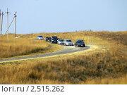 Купить «Скопление машин на спуске», эксклюзивное фото № 2515262, снято 23 августа 2008 г. (c) Охотникова Екатерина *Фототуристы* / Фотобанк Лори