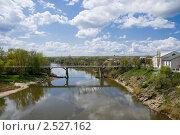 Купить «Мост через реку Калитва недалеко от устья», фото № 2527162, снято 1 мая 2011 г. (c) Борис Панасюк / Фотобанк Лори