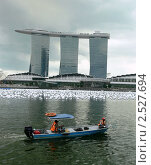 Отель Marina Bay Sands , Сингапур (2010 год). Редакционное фото, фотограф Баранов Александр / Фотобанк Лори